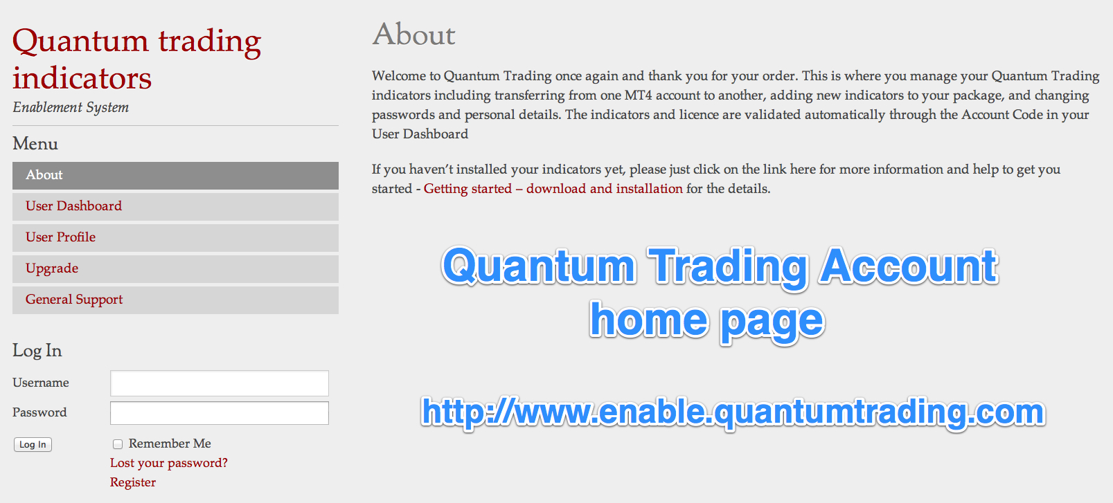 Quantum Trading Home Page - JPG